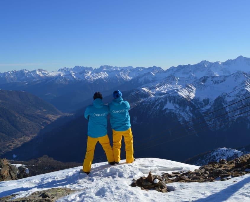 monitoren op skivakantie jongeren