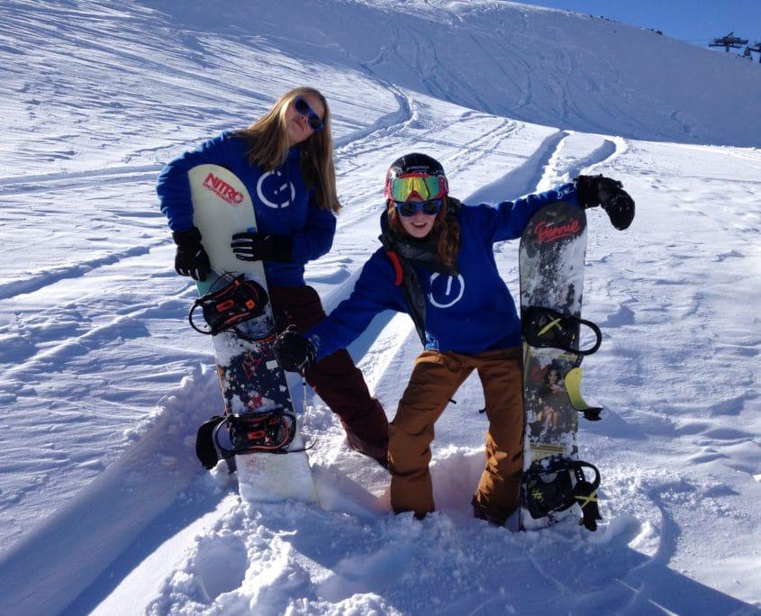 jongeren snowboard
