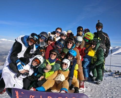 Studenten skivakantie