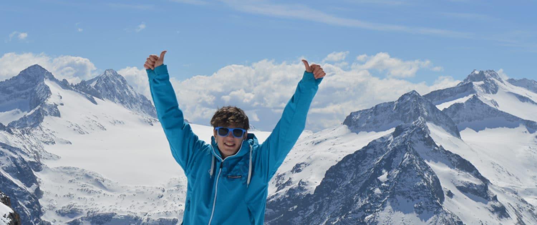 Jens Lynen op zijn best als snowboardmonitor