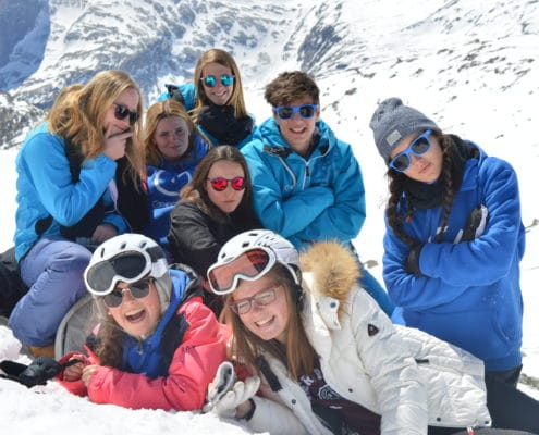 skiën jongeren vakantie